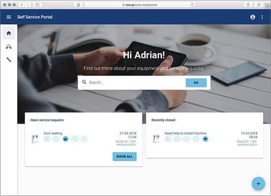 Field Service Software - Self-Service Portal